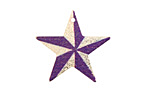Pinwheel Etched & Printed Gold Finish Star Focal 25x24mm