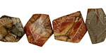 Red Creek Jasper Flat Faceted Nugget 11-14x15-18mm