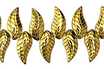 Antique Gold Crystal Leaf Drop 8x18mm