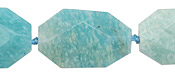 Brazil Amazonite Faceted Flat Slab 29-32x19-22mm