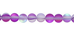 Violet Fused Glass AB (matte) Round 6mm
