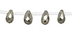 Golden Pyrite Faceted Teardrop 6x10mm