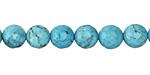 Blue Magnesite Faceted Round 8mm
