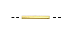 Gold (plated) 4-Sided Noodle Bead 20x2.5mm