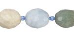 Aquamarine (Multi) Faceted Nugget 16-20x14-16mm