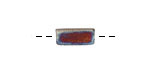 Xaz Raku Stan's Rust Small Bar 12-13x6mm