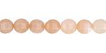 Peach Moonstone Step Cut Round 6.5-7mm