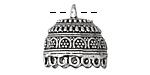 Zola Elements Antique Silver (plated) Cathedral Dome Tassel Cap w/ Loops 21x20mm