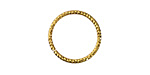 Gold (plated) Fine Textured Jump Ring 18mm