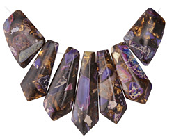 Purple Impression Jasper & Bronzite Pendant Set 20-45mm