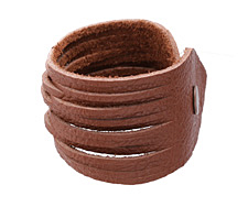 "The Lipstick Ranch Deep Rust Shredded Leather Cuff Bracelet 2""x 9 3/4"""
