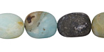 Black Amazonite (matte) Nugget 13-16x11-13mm