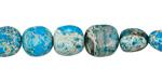 Ocean Blue Impression Jasper Tumbled Nugget 8-10x8-10mm