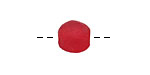 African Recycled Glass Cherry Red Tumbled Round 8-10mm