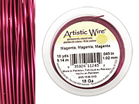 Artistic Wire Magenta 18 gauge, 10 yards