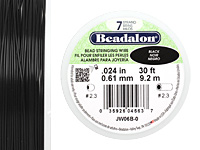 "Beadalon Black .024"" 7 Strand Wire 30ft."