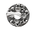 Saki Sterling Silver Sakura Toggle Clasp 33mm, 31mm bar