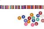 African Trade Pink Rainbow Vinyl/Vulcanite Heishi 4mm