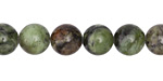 Dendritic Green Jade Round 10mm