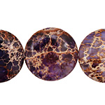Purple Impression Jasper Puff Coin 25mm