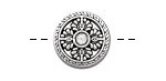 Zola Elements Antique Silver (plated) Primrose Coin Bead 18mm