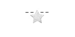 Brushed Sterling Silver Simple Star Slide 9mm