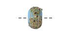 A Beaded Gift Dusted Cyan Raku Glass Rondelle (large hole) 9-10x14-15mm