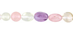 Multi Stone (Amethyst, Citrine, Rose Quartz, Green Tourmalinated Quartz) Tumbled Nugget 6-11x5-8mm