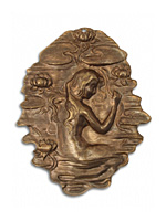 Vintaj Natural Brass Waterlily Maiden Pendant 41x52mm