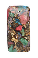 Wildflower Bronzite Mosaic Pendant 30x60mm