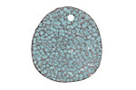 Greek Copper (plated) Patina Large Coral Textured Drop 29mm