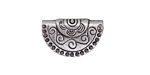 Zola Elements Antique Silver (plated) Scrolling Half Circle Slide Focal 21x13mm