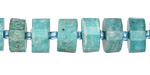 Brazil Amazonite Faceted Disc 6-8x12mm