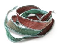 "Azure Like Truffles Hand Dyed 100% Silk Ribbon 1/2"""