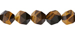 Tiger Eye Star Cut Round 10mm
