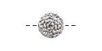 Crystal Pave (w/ Preciosa Crystals) Round 12mm