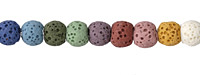 Lava Rock (multi-color) Round 8-9mm
