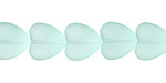 Seafoam Recycled Glass Puffed Heart 11x12mm