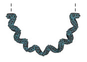 Greek Copper Patina Dotted Ribbon 1/2 Loop 52x32mm