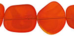 Marbled Tangerine Recycled Glass Flat Freeform 21-23x18-20mm
