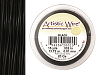 Artistic Wire Black 20 gauge, 15 yards