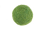 Leaf Green Felt Round 20mm