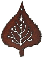 The Lipstick Ranch Rusted Iron Leaf Pendant 47x63mm