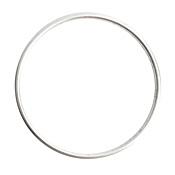 Nunn Design Sterling Silver (plated) Open Frame Grande Hoop 49mm