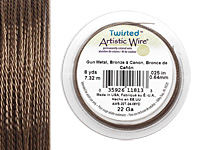 Twisted Artistic Wire Antique Brass 22 gauge, 8 yards