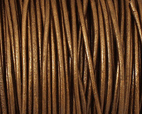 Kansa (metallic) Round Leather Cord 1.5mm