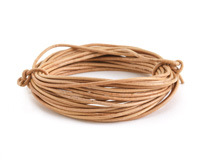 Natural Round Leather Cord 1.5mm, 16 feet