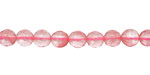 Cherry Quartz Faceted Round 6mm
