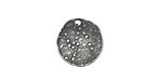 Vintaj Antique Pewter (plated) Dotted Dapped Circle 14mm