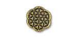 TierraCast Antique Gold (plated) Flower Of Life Button 16mm